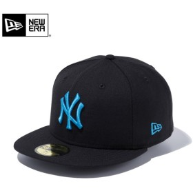 セール20%OFF!【メーカー取次】 NEW ERA ニューエラ 59FIFTY MLB ニューヨーク・ヤンキース ブラックXブライトターコイズ 11308575 キャップ ブランド