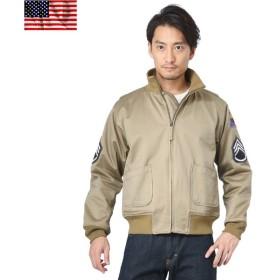 新品 米軍タンカースジャケット 初期型 ワッペン付き パッチ メンズ ミリタリー ブルゾン ジャンパー 軍物