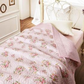 タオルケット ケット 水洗いガーゼキルトケット カラー ピンク