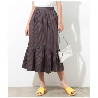 ROPE' / ロペ マルチストライプペプラムギャザースカート