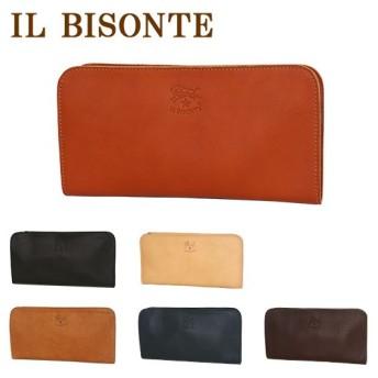 IL BISONTE(イルビゾンテ)C0909 L字型ファスナー付長財布 小銭入れ付 選べるカラー