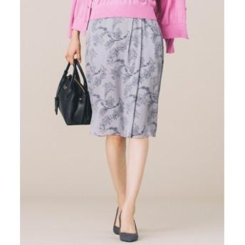 S size ONWARD(小さいサイズ) / エスサイズオンワード 【洗える】バイカラーボタニカルプリント スカート