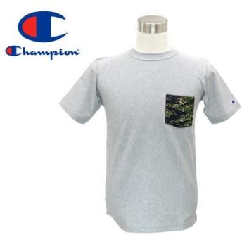 CHAMPION REVERSE WEAVE T-SHIRT チャンピオン リバース ウィーブ Tシャツ OXFORD GREY/TIGER CAMO