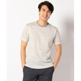 JOSEPH ABBOUD / ジョセフ アブード TOPリネンタックボーダー Tシャツ