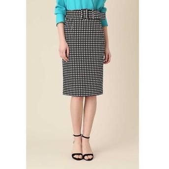 PINKY & DIANNE / ピンキーアンドダイアン ポルカドットベルト付きタイトスカート
