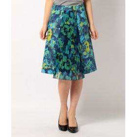 S size ONWARD(小さいサイズ) / エスサイズオンワード アクアレッリィフィオーレプリント スカート