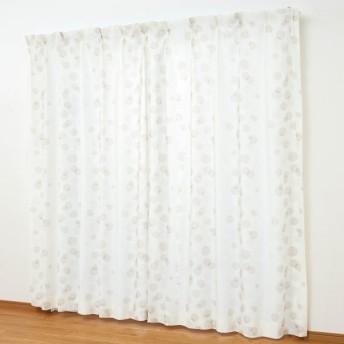 カーテン 安い おしゃれ レースカーテン UVカット 遮像ボイルカーテン あわだま 約100×176 2枚
