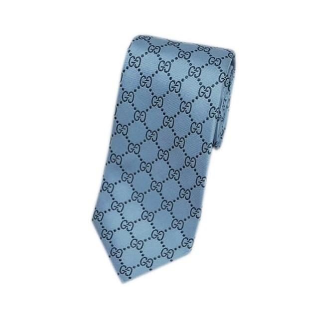 121b3a51e9ba グッチ ネクタイ 421070-4968 GUCCI メンズ ジャガード デザイン GGパターン シルク100% ヒヤシンスブルー