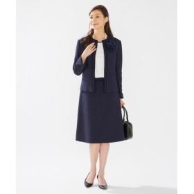L size ONWARD(大きいサイズ) / エルサイズオンワード 【セットアップ対応】リングツイード スカート