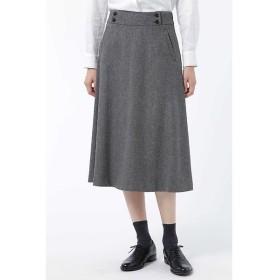 HUMAN WOMAN / ヒューマンウーマン 【マリソル11月号掲載】ヘリンボンツィードフレアースカート