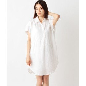 SHIPS for women / シップスウィメン (1)3478 リネン バックギャザー シャツワンピース