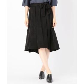 COMME CA / コムサ ヌバック調サテンデザインスカート