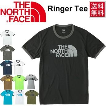 ランニングシャツ 半袖 Tシャツ メンズ THE NORTH FACE ザ・ノースフェイス リンガーティー 男性 吸湿速乾 トップス ビッグロゴ/NT81570