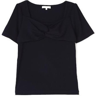 PROPORTION BODY DRESSING / プロポーションボディドレッシング リブテレコ胸元リボンカットソー