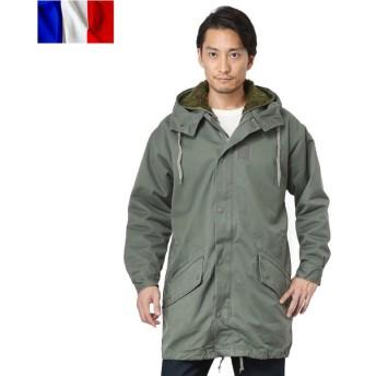 実物 フランス軍 F-1 HBT パーカーコート ライナー付き USED メンズ ミリタリー アウター コート ジャンバー 放出品 軍服【クーポン対象外】