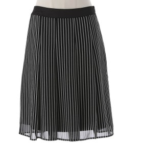 スカート レディース ロング 透け感のある素材で軽やかな印象のスカート72〜88 クロ