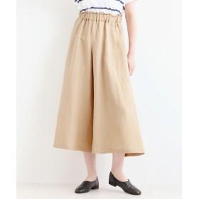 NIMES / ニーム 麻/レーヨンキャンバススカート風ギャザーパンツ