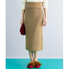 L size ONWARD(大きいサイズ) / エルサイズオンワード 【セットアップ可・洗える】Wool Ester ニットスカート