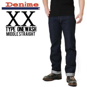 Denime ドゥニーム XX type ミドルストレート One Wash デニム【DB15-004】 ブランド