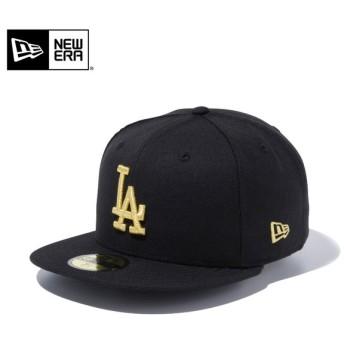 【メーカー取次】 NEW ERA ニューエラ 59FIFTY MLB ロサンゼルス・ドジャース ブラックXゴールド 12336666 キャップ ブランド【Sx】