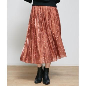 Rouge vif la cle / ルージュ・ヴィフ ラクレ ドットサテンギャザースカート