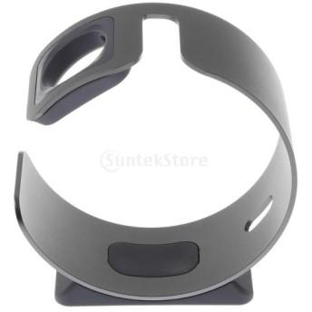 Perfk Apple Watch用 充電ドック 卓上 時計充電スタンド ケーブル整理 アルミ合金 互換性 グレー&シルバー - グレー