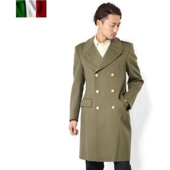 【訳あり】 実物 イタリア軍 オフィサーウールロングコート メンズ ミリタリーコート 軍物 軍服 軍用 放出品 【クーポン対象外】