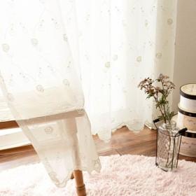 カーテン 安い おしゃれ レースカーテン トルコ刺繍のレースカーテン 約100×88 1枚