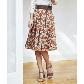23区 CALICO PATTERN PRINT スカート