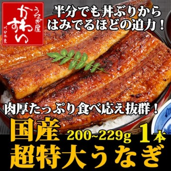 国産 うなぎ 蒲焼き 超特大サイズ 200g×1本 鰻 ウナギ グルメ