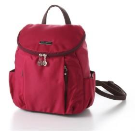 バッグ カバン 鞄 レディース リュック 近所へのお出掛けにぴったりナイロンミニリュック カラー エンジ