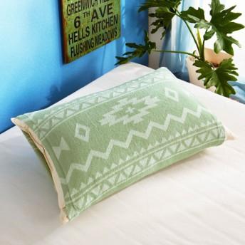 布団カバー シーツ 枕カバー ピローケース のびのび枕カバー ネイティブ カラー グリーン