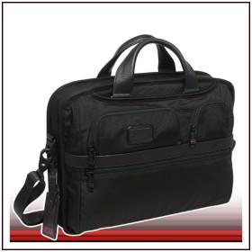 TUMI (トゥミ) 26516 ALPHA2シリーズ T-Pass ミディアム スクリーン ラップトップ スリム ブリーフ ブラック ビジネス バッグ
