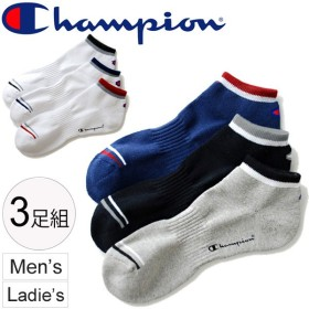 ソックス 3足組 メンズ レディス/Champion チャンピオン スニーカーインソックス 靴下 ワンポイント くつした アンクルソックス 男女兼用/C1-0786T