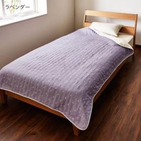 タオルケット ケット 日本製 10色のドット柄から選べる 6重織ガーゼケット カラー ラベンダー
