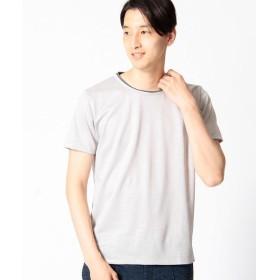 COMME CA MEN / コムサ・メン ラミーコットンプレーティングTシャツ