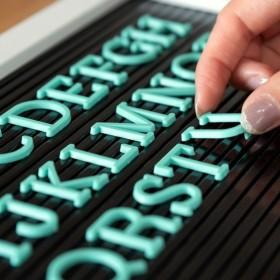 レターボード用文字パーツ アルファベット 英字 数字 191ピース グリーン 結婚式 サインボード メッセージボード ウェルカムボード テキストパーツ