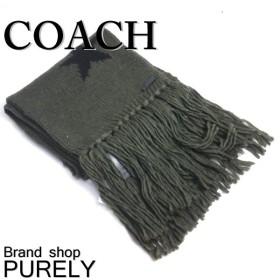 全品ポイント5倍 コーチ COACH マフラー ニット 小物 スター インターシャ ニット スカーフ F86021 EAX ミリタリー×ブラック
