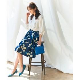 S size ONWARD(小さいサイズ) / エスサイズオンワード 【洗える】マーガレットフラワー スカート