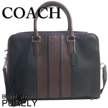 COACH コーチ ビジネスバッグ ぺブル レザー ボンド F72308
