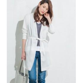 ICB / アイシービー 【洗える】Hybrid Sewing 異素材コンビ カーディガン