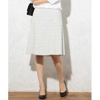 L size ONWARD(大きいサイズ) / エルサイズオンワード 【セットアップ対応】ファンシーツイード スカート
