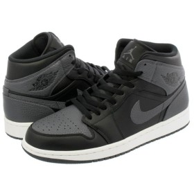 NIKE AIR JORDAN 1 MID ナイキ エア ジョーダン 1 ミッド BLACK/DARK GREY/SUMMIT WHITE