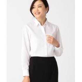 COMME CA ISM / コムサイズム ドビー織りのホワイトシャツ