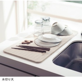 水切りマット 水切り 吸水 マット 珪藻土 速乾 食器 水きり 日本製 洗える SAVAC 水切り大