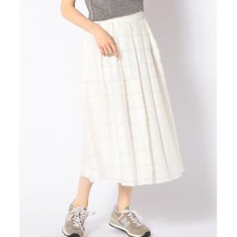 SHIPS for women / シップスウィメン PrimaryNavyLabel:スクエアジャカードスカート