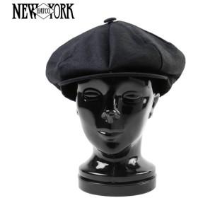 New York Hat ニューヨークハット 6212 リネン NEWSBOY ニュースボーイ キャスケット ブラック メンズ 麻 アメカジ ブランド