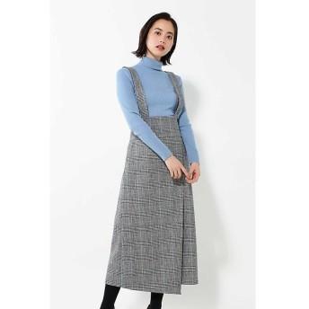 ROSE BUD / ローズ バッド グレンチェックハイウエストスカート