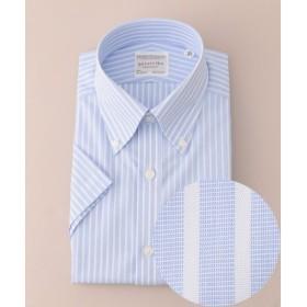 gotairiku / ゴタイリク 【形状安定】サマープレミアムプリーツ ドレスシャツ ボタンダウン 半袖