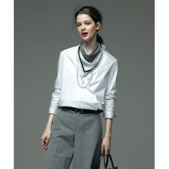 S size ONWARD(小さいサイズ) / エスサイズオンワード カンジョリライトストレッチシャーティング カシュクールシャツ